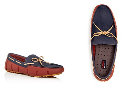 Swims Men's Braided Lace Nubuck Leather & Rubber Drivers - Bloomingdale's_2