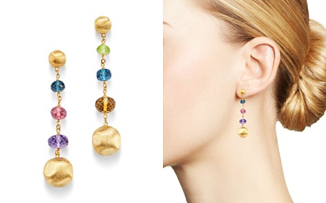 Marco Bicego 18K Yellow Gold Africa Amethyst, London Blue Topaz, Citrine, Peridot & Pink Tourmaline Drop Earrings - Bloomingdale's_2