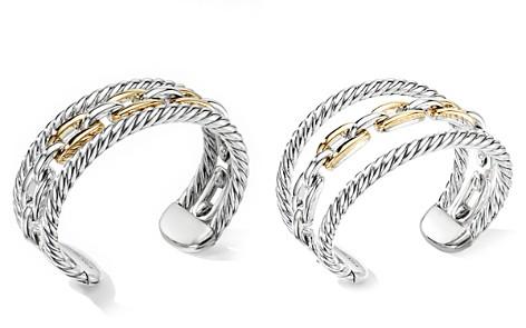 David Yurman Wellesley Link Multi Stack Bracelet in Sterling Silver with 18K Yellow Gold - Bloomingdale's_2