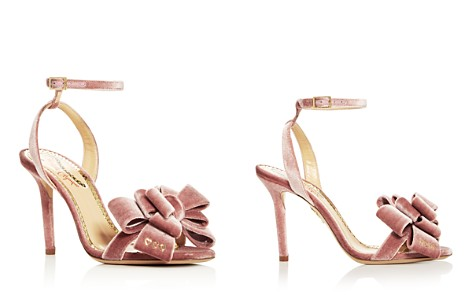 Charlotte Olympia Women's Velvet Bow High-Heel Sandals - Bloomingdale's_2
