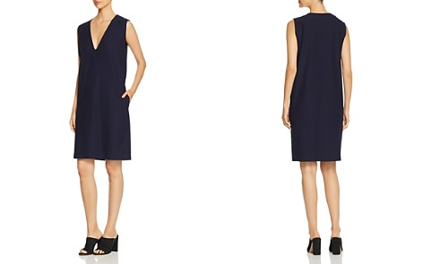 Eileen Fisher Sleeveless V-Neck Dress - Bloomingdale's_2