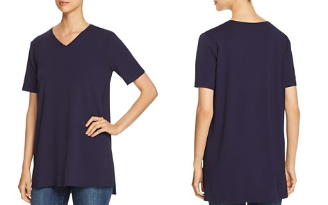 Eileen Fisher V-Neck Tunic Tee - Bloomingdale's_2