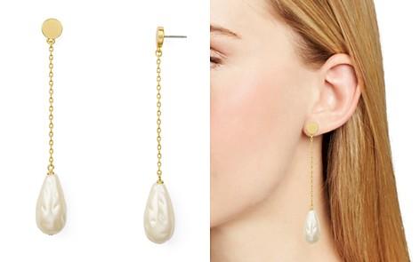kate spade new york Simulated Pearl Linear Drop Earrings - Bloomingdale's_2