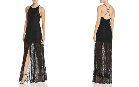 Fame and Partners The Patsy Lace Illusion Gown - Bloomingdale's_2