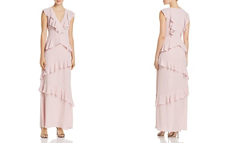 BCBGMAXAZRIA Tiered Ruffle V-Neck Maxi Dress - Bloomingdale's_2