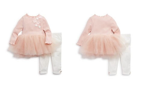 Miniclasix Girls' Ribbed Tutu Top & Leggings Set - Baby - Bloomingdale's_2
