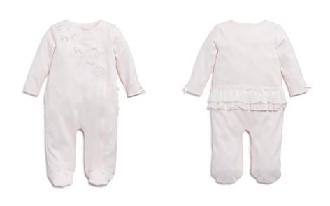 Miniclasix Girls' Floral Appliqué Ruffled Footie - Baby - Bloomingdale's_2