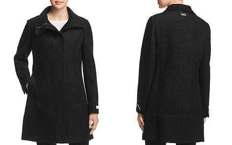 Calvin Klein Seamed Bouclé Coat - Bloomingdale's_2