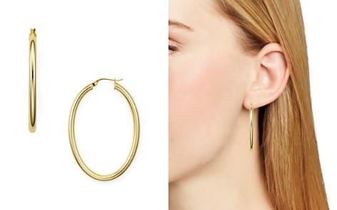 AQUA Tube Hoop Earrings - 100% Exclusive - Bloomingdale's_2