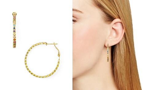 AQUA Multicolor Stone Hoop Earrings in 18K Gold-Plated Sterling Silver or Sterling Silver - 100% Exclusive - Bloomingdale's_2