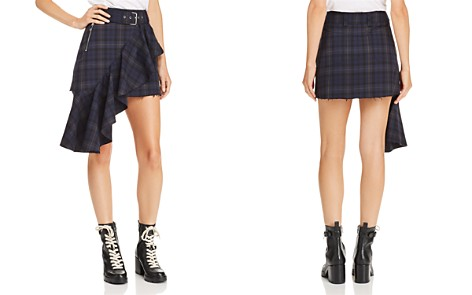Divine Heritage Plaid Ruffle-Trimmed Moto Mini Skirt - Bloomingdale's_2