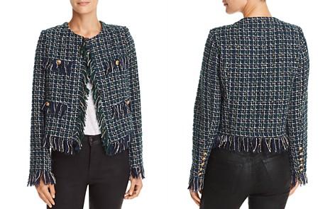 JOA Fringed Tweed Jacket - Bloomingdale's_2