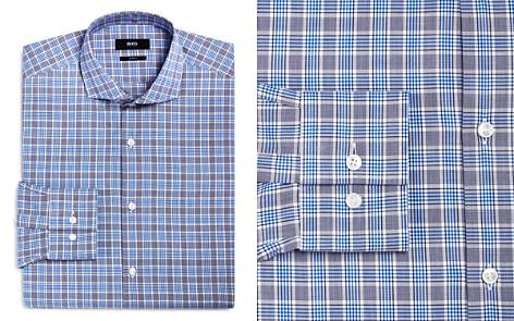 BOSS Plaid Check Slim Fit Dress Shirt - Bloomingdale's_2