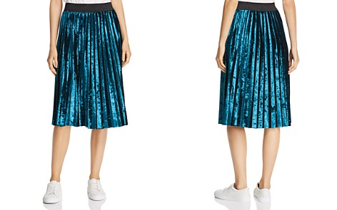 MKT Studio Jacote Pleated Velvet Skirt - Bloomingdale's_2