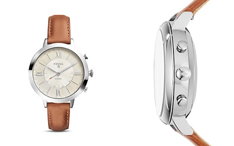 Fossil Q Jacqueline Brown Leather Strap Hybrid Smartwatch, 36mm - Bloomingdale's_2