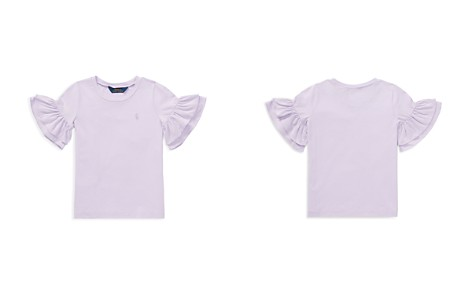 Polo Ralph Lauren Girls' Ruffle-Sleeve Tee - Little Kid - Bloomingdale's_2