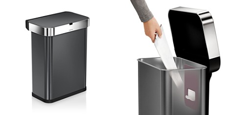 simplehuman 58-Liter Rectangular Sensor Trash Can with Voice & Motion Control - Bloomingdale's_2
