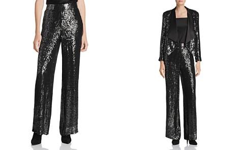 Alice + Olivia Racquel Sequined Wide-Leg Pants - 100% Exclusive - Bloomingdale's_2