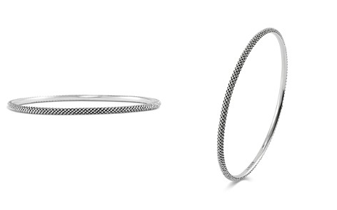 LAGOS Sterling Silver Signature Caviar Large Bangle Bracelet - Bloomingdale's_2