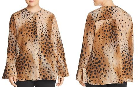 Lafayette 148 New York Plus Izzie Silk Cheetah-Print Blouse - Bloomingdale's_2