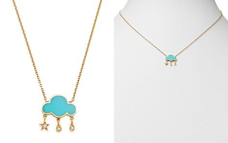 "SUEL 14K Yellow Gold Cloud Diamond & Enamel Necklace, 16.5"" - Bloomingdale's_2"