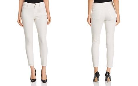 J Brand Alana Velvet Corduroy High Rise Jeans in Moonbeam - Bloomingdale's_2