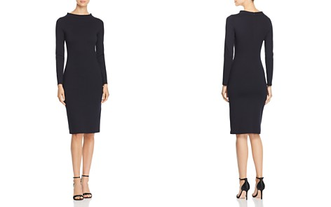 Emporio Armani High Neck Sheath Dress - Bloomingdale's_2