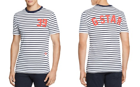 G-STAR RAW Cool Rib Striped Graphic Tee - Bloomingdale's_2