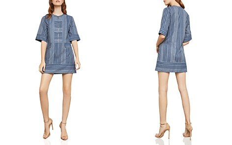 BCBGMAXAZRIA Striped Zip-Front Shift Dress - Bloomingdale's_2