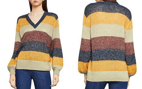 BCBGMAXAZRIA Metallic Striped Sweater - Bloomingdale's_2