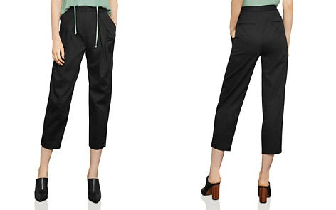 BCBGMAXAZRIA Pleated Cropped Straight-Leg Pants - Bloomingdale's_2
