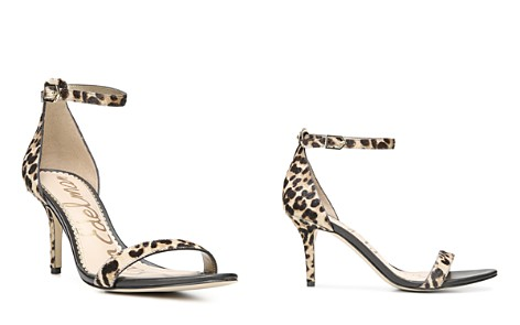 Sam Edelman Women's Patti Open Toe Leopard-Print Calf Hair High-Heel Sandals - Bloomingdale's_2