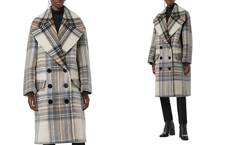 Burberry Halliday Plaid Wool Peacoat - Bloomingdale's_2