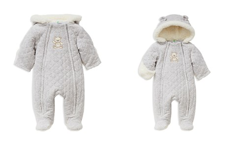 Little Me Unisex Heathered Faux-Fur Hooded Teddy Bear Footie Jacket - Baby - Bloomingdale's_2