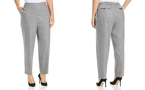 Lafayette 148 New York Plus Fulton Metallic Pinstripe Pants - Bloomingdale's_2
