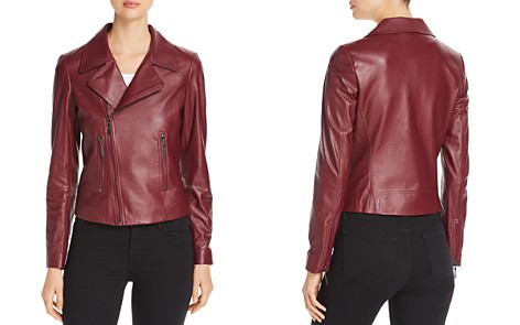 Elie Tahari Mae Leather Moto Jacket - 100% Exclusive - Bloomingdale's_2