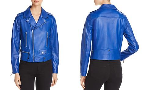 Elie Tahari Jacalyn Leather Moto Jacket - Bloomingdale's_2
