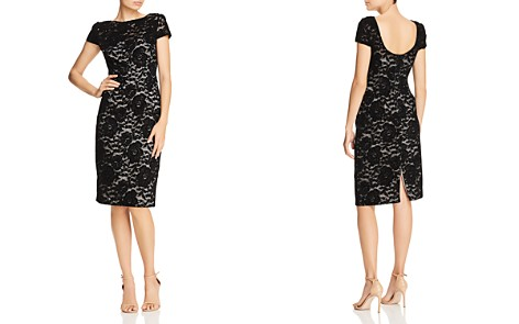 Adrianna Papell Rose Velvet Lace Sheath Dress - Bloomingdale's_2