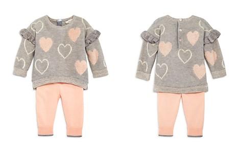 Miniclasix Girls' Ruffle Trim Heart Sweater Top & Leggings Set - Baby - Bloomingdale's_2