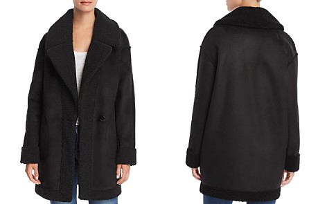 AQUA Reversible Faux Shearling Coat - 100% Exclusive - Bloomingdale's_2
