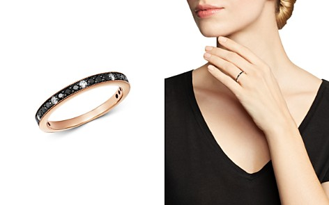 Bloomingdale's Black & White Diamond Stacking Band in 14K Rose Gold - 100% Exclusive_2