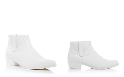 Anine Bing Women's Axel Pointed Toe Leather Ankle Booties - Bloomingdale's_2