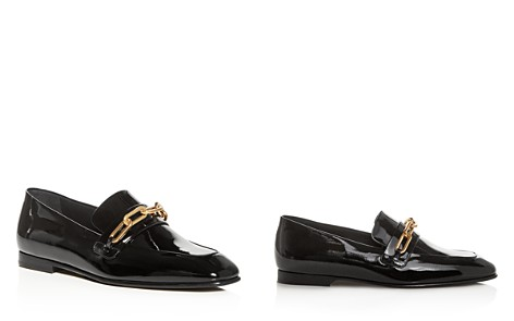 Burberry Women's Chillcot Patent Leather Apron Toe Loafers - Bloomingdale's_2