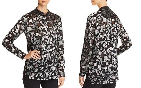 Lafayette 148 New York Brayden Textured Floral Blouse - Bloomingdale's_2