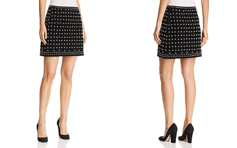 Kobi Halperin Arlena Beaded Velvet Mini Skirt - Bloomingdale's_2