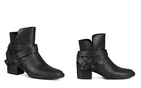 UGG® Women's Elysian Round Toe Leather Mid-Heel Booties - Bloomingdale's_2