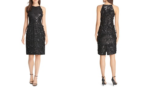 Eliza J Sequin & Petal Appliqué Dress - Bloomingdale's_2