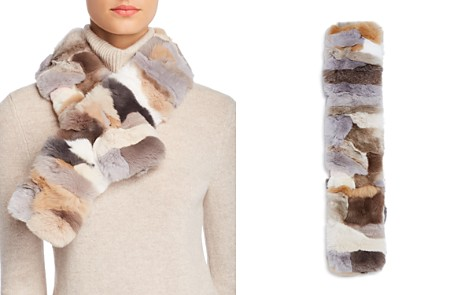 Giorgio Salvini Barcellona Rex Rabbit Fur Scarf - 100% Exclusive - Bloomingdale's_2