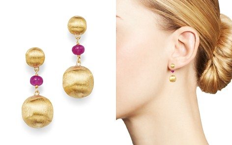 Marco Bicego 18K Yellow Gold Africa Precious Ruby Drop Earrings - Bloomingdale's_2