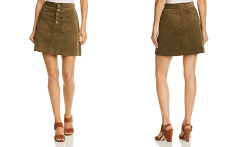 Lost + Wander Alicia Button-Detail Corduroy Mini Skirt - Bloomingdale's_2